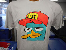 Men's Phineas & Ferb Brand Perry The Platypus Plat Hat Shirt New XL