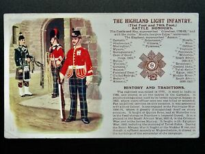 History & Tradition THE HIGHLAND LIGHT INFANTRY Postcard Gale & Polden No.93a