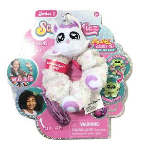 Scrunchmiez Series 1 Scrunchie & Hair Clip Glimmer The Unicorn White Sequins