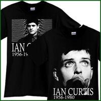 IAN CURTIS JOY DIVISION Rock Band Tribute Black T-Shirt TShirt Tee Size S-3XL
