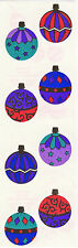 Mrs. Grossman's Stickers - Reflections Ornaments - Christmas Decor - 3 Strips