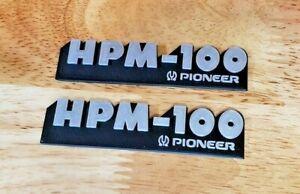 Pioneer HPM-100 Speaker Badge Emblem Logo Name Plate pair reproduction