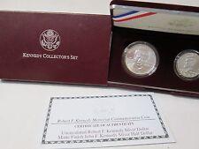 1998 Robert F Kennedy Memorial 2 Coin Uncirculated Silver Commemorative Set