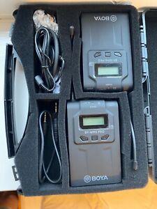 2 x BOYA BY-WM6 Pro Lavalier Clip Wireless RECEIVER And TRAANSMITTER UK stock