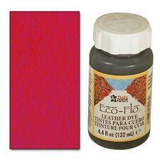 2 bottles Eco-Flo Leather Dye 4.4 fl. oz. (132 ml) Scarlet Red - FREE SHIPPING!
