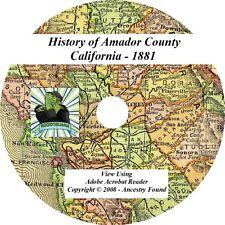 1881 History & Genealogy of AMADOR County California CA