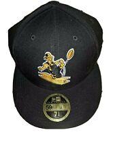 Pittsburgh Steelers New Era Flat Brim Black Hat Size 7 5/8 NEW