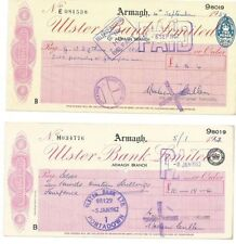Ulster Bank Cheques