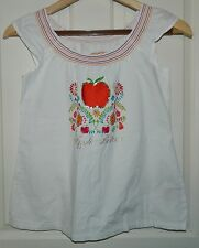 APPLE BOTTOMS White Cotton Floral Tunic TOP* Medium M