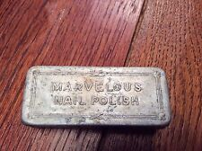 Rare TIN - Vintage RICHARD HUDNUT MARVELOUS NAIL POLISH  - 2 1/2 x 1 x1""