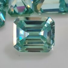 Blue Emerald Cut Loose Moissanite For Ring/pendant 2.90 Ct 8.85 x 7.60 Mm Vvs