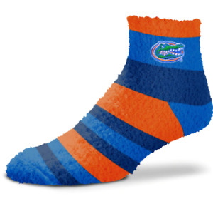 Florida Gators Orange & Blue Rainbow Stripe Soft Fuzzy Socks