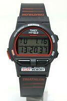 Orologio Timex indiglo triathlon 8 lap memory digital watch vintage clock rare