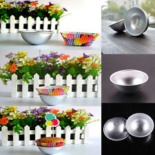 New Ball Stainless Steel Sphere Bath Bomb Cake Pan Bake Mold Pastry Mould FF