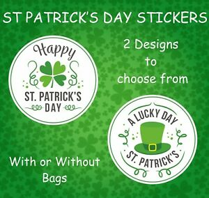 St Patricks's Day Stickers, Party Bags, Bakers, Gift, Cards, Seals, Boxes, Pubs