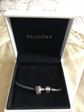 Genuine PANDORA 925 sterling silver OWL charm Brownies Bracelet UNWORN Retired
