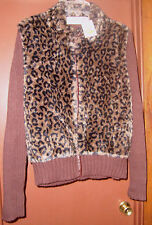 NWT Stein Mart Tiara Brand SZ Junior XL Zipping Sweater Faux Fur Jacket