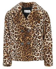 """STAND """"Katinka"""" Fake Fur Jacke LEOPRINT teddyweich KURZ GR 34 NEU *63584"""