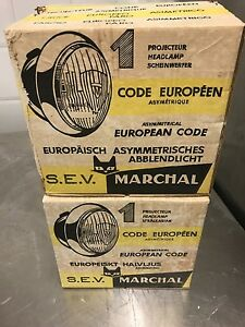 MARCHAL Maserati 3500 Ferrari  330 EQUILUX 109  (one pair)  NOS !! TWO LIGHTS !!