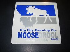 BIG SKY BREWING CO Moose Drool square Montana STICKER decal craft beer brewery