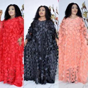 African Muslim Women Oversize Abaya Long Maxi Dress Dashiki Moroccan Kaftan Robe