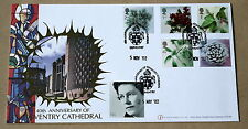 CHRISTMAS 2002 BUKINGHAM FDC 40TH ANNIVERSARY COVENTRY CATHEDRAL HANDSTAMP
