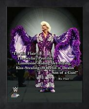 """Ric Flair WWE Pro Quotes Photo (Size: 9"""" x 11"""") Framed"""