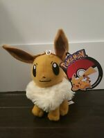 Official Licensed Pokemon Eevee Plush Stuffed Figure Doll Toy Kids USA - NWT