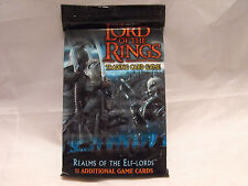 LORD OF THE RINGS CCG REALMS OF THE ELF-LORDS SEALED PACK OF 11 CARDS