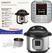 NEW Instant Pot Duo 7-in-1 Electric Pressure Cooker, 6 Litre IP-DUO60