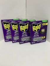 Raid Bed Bug Detector And Trap 4ct- Lot Of 4 (16 Traps Total) *New*