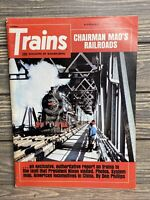 Vintage Magazine Trains November 1972 Chairman Maos Railroad