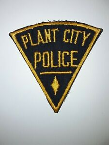 Old PLANT CITY FL Police patch Vintage Florida triangle not sheriff