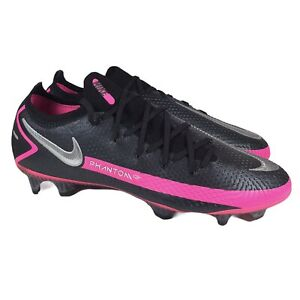 Nike Phantom GT Elite FG ACC Soccer Cleats Black Pink CK8439-006 Mens Size 8.5