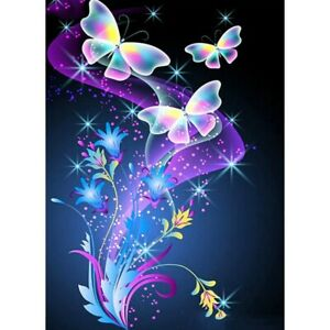 5D Full Drill Diamond Painting Butterfly Embroidery Cross Stitch Kits Art Decors