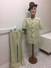 Original Vintage Men's  70s Safari Suit , Shirt & Pants , Retro Safari Suit