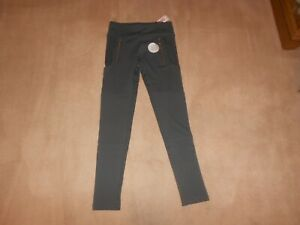 NEW, GIRLS JUSTICE GRAY RIBBED & ZIPPER LEGGINGS, SIZE 12