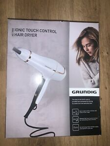 Grundig HD7880 Ionic Touch Control Hair Dryer White Rose Gold