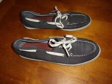 sperry top sider boat shoes mens  canvas leather 11