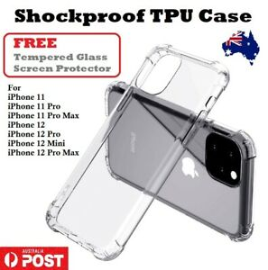 FREE Tempered Glass Clear Shockproof Cover Bumper Case iPhone 12 11 Australia