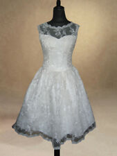 50s 60s IVORY BRIDAL WEDDING/EVENING/PROM DRESS GOWN SIZE 10 Bargain
