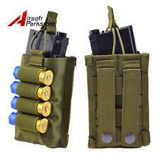 Tactical MOLLE 5.56mm Magazine Pouch w 4 Round 12GA Shotgun Ammo Holder for Vest