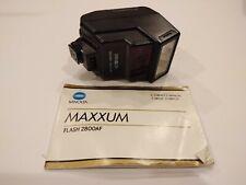 Minolta Maxxum Flash 2800AF for 5000, 7000, 9000 w/ Instruction Manual, Works