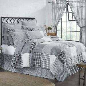 COUNTRY PRIMITIVE FARMHOUSE SAWYER MILL BLACK PATCHWORK QUILTED COLLECTION