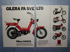 MOTITALIA983-PUBBLICITA'/ADVERTISING-1983- GILERA 50 ECO  (2 fogli)