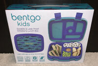🔥BRAND NEW Bentgo Kids Durable & Leak Proof Children's Lunch Box, Blue Sharks