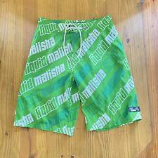 Liquid Malisha Watersport Shorts Neoprene Wetsuit Lined Size 36 Green Boardshort