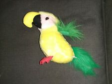 Yellow and Green Parrot plush