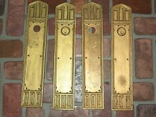 Antique Huge Gothic Door PushPlates By Reading & Co. 20""