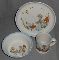 1980s 3 pc Denby DREAMWEAVERS PATTERN Child's Set MADE IN ENGLAND